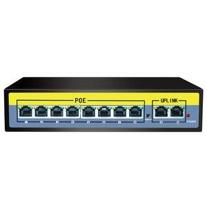 Image 4 - POE Gigabit switch 52V  5/6/8/10/11/16/24 port POE Switch for IP camera 250 meters lightning protection Internal Power Supply