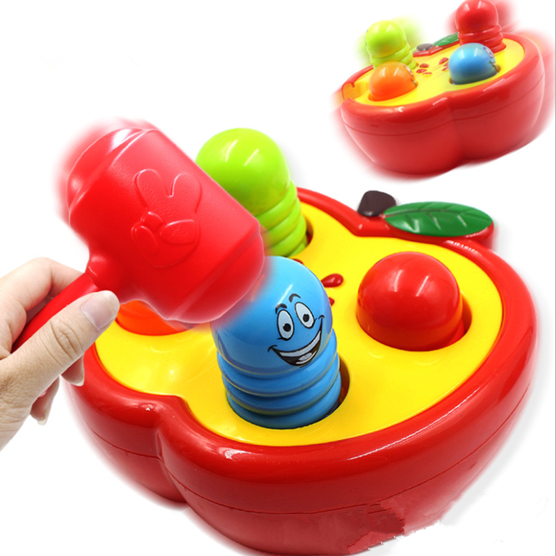Hammering Ball Hammer Box Children Fun Playing Hamster Game Toy Early Learning And Educational Toys Learning Puzzles Toys