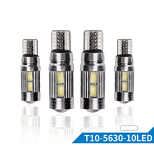 5PCs T10 W5W Led Canbus 194 10 SMD 5630 Fog Lights Auto Clearance Bulb No Error Parking Car Side Light Car Styling cyan soil bay1x t10 canbus error free led 4014 2835 3014 smd car light w5w 194 t15 bulb no error parking clearance lamp