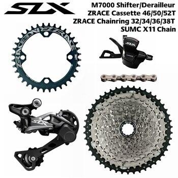 SLX SL-M7000-11-R + RD-M7000-11-GS + ZRACE Cassette + SUMC Chains + ZRACE BCD104 Chainrings. 1x11 Speed  5kit Groupset
