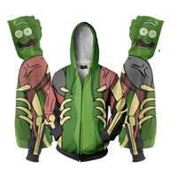 Unisex Cartoon Rick Morty Hoodies Sweatshirt Anime Cosplay 3D Drucken Sweatshirts Zip Up Hoodies Jacke Mit Kapuze Tops Neue