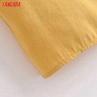 Tangada Women Yellow Sexy Party Dress Sleeveless Backless 2021 Fashion Lady Midi Dresses Robe 3H140 5