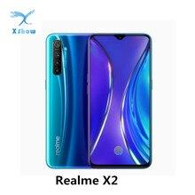 REALME X2 мобильного телефона 6,4 дюймов Super AMOLED Экран Snapdragon 730G 64 мегапиксельная четырехъядерная камера смартфона NFC VOOC 30 Вт Быстрая зарядка MobliePhone
