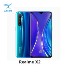 REALME X2โทรศัพท์มือถือหน้าจอSuper AMOLED 6.4นิ้วSnapdragon 730G 64MP Quadกล้องสมาร์ทโฟนNFC VOOC 30Wชาร์จโทรศัพท์มือถือ