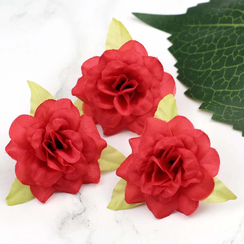 Artificial Silk Rose Peony Fake Flower Heads Bulk Craft Wedding Party Decor Lot