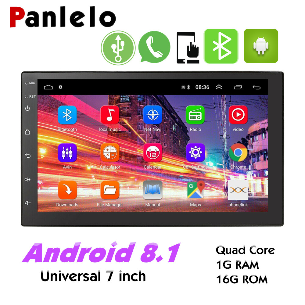 """Android 8.1 Car Stereo MP5 Player GPS Navigation 7/"""" 2 Din Radio WiFi BT FM Unit"""