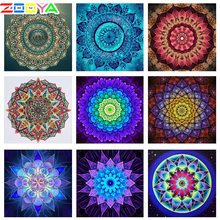Zooya bordado de diamantes 5D Diy pintura de diamantes flores Kits de punto de cruz cuadrado redondo mosaico de diamantes Mandala nuevo CD017(China)