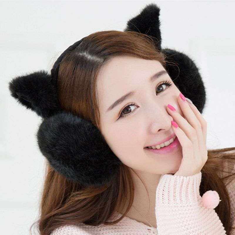 Women Girls Warm Comfortable Earmuffs New Fashion Cute Plush Ear-cap Protect Ears Winter Outdoor Accessories