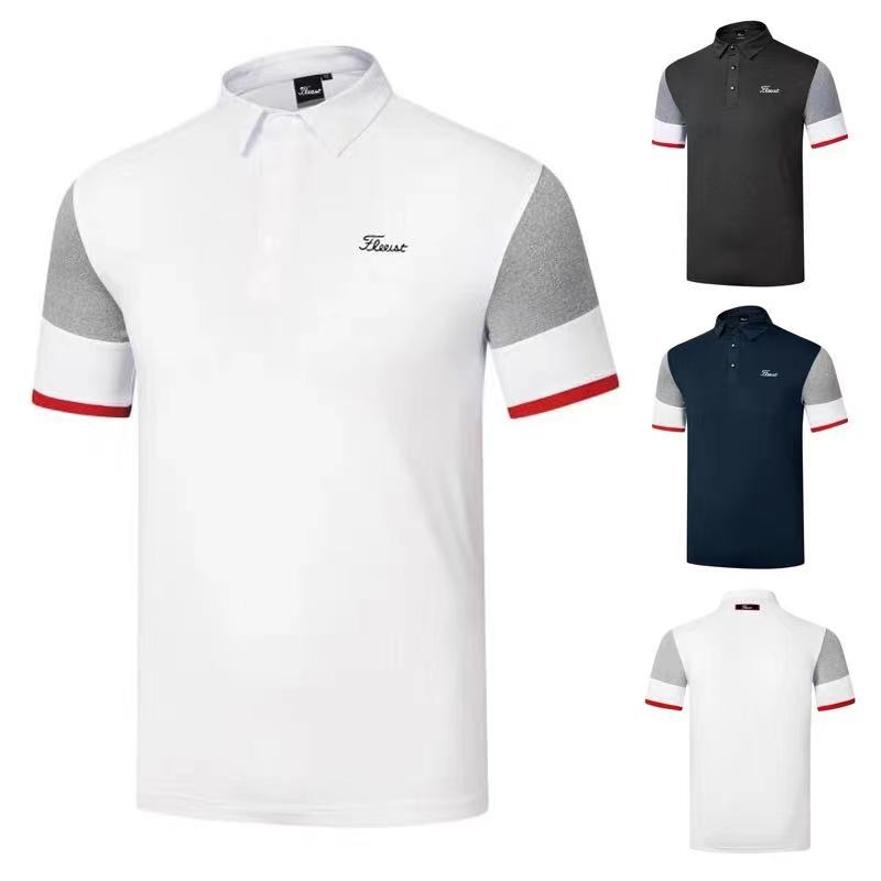 2021 new golf short-sleeved T-shirt polo shirt golf clothes men's sports and leisure style