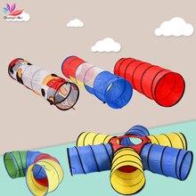 Tragbare Kinder Zelte Regenbogen Tunnel Spielzeug Klapp Kinder Krabbeln Spiel Rohr Kinder Indoor Outdoor Spielen Haus Tunnel Krabbeln Spielzeug