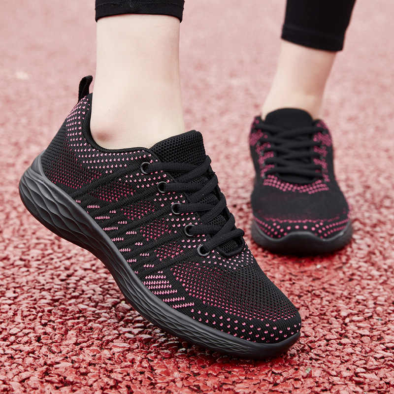 2020 nowych kobiet buty oddychające siatki platformy trampki kobiety lekkie siatki przypadkowi buty dla kobiety Tenis Feminino