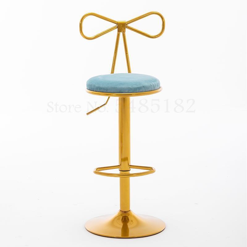 Nordic bar chair swivel lift back chair simple bar chair net red light luxury home high stool