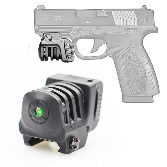 น้ำหนักเบาแบบชาร์จ MINI GREEN/Red Laser Sight สำหรับปืนพก airgun Picatinny Rail Glock 17 19