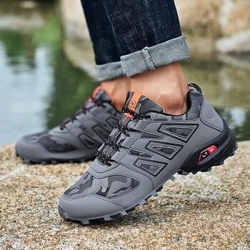 Seedstar Shoe Men Hiking Shoes Outdoor Sneakers for Lightweight Jogging Mountain Trekking