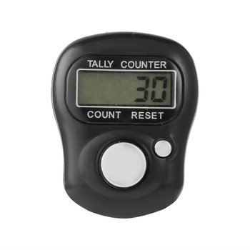 Portable Mini 5-Digit LCD Electronic Screen Digital Universal Hand Held Finger Ring Tally Counter for Outdoor Sports image