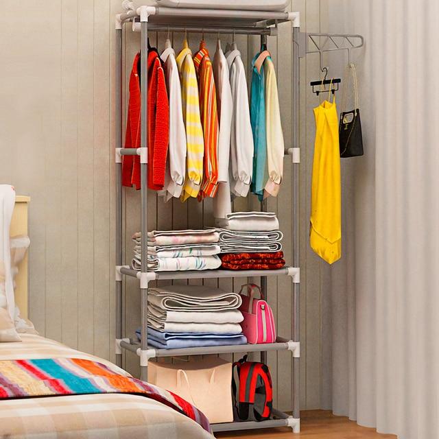Hot Sale 2020 Simple Metal Iron Coat Rack Floor Standing Clothes Hanging Storage Shelf Clothe Hanger Racks Bedroom Furniture