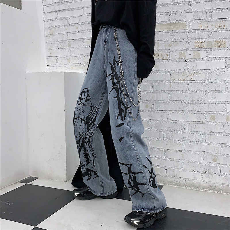 Harajuku Jeans Pants Women Loose Casual Wide Leg Denim Pants New 2020 Fashion Korean Style  Boyfriend Jeans Woman Trousers P385