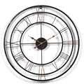 Настенные часы в стиле ретро, популярные объемные большие короткие Ретро часы в современном винтажном стиле, с вырезами, домашний декор для ...