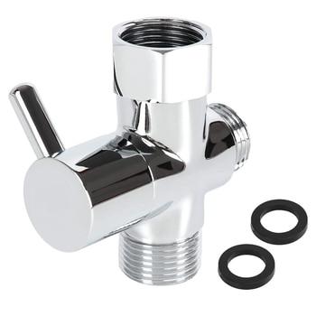 цена на Brass Bidet T Adapter Valve 3 Way Shut Off Tee Connector for Toilet Bidet Sprayer T Adapter Diaper Adapter 7/8 7/8 1/2