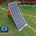 120 Вт 36 ячеек 18 в Гибкая солнечная панель с 20А Солнечный контроллер для 12 В зарядка батареи RV Лодка Караван