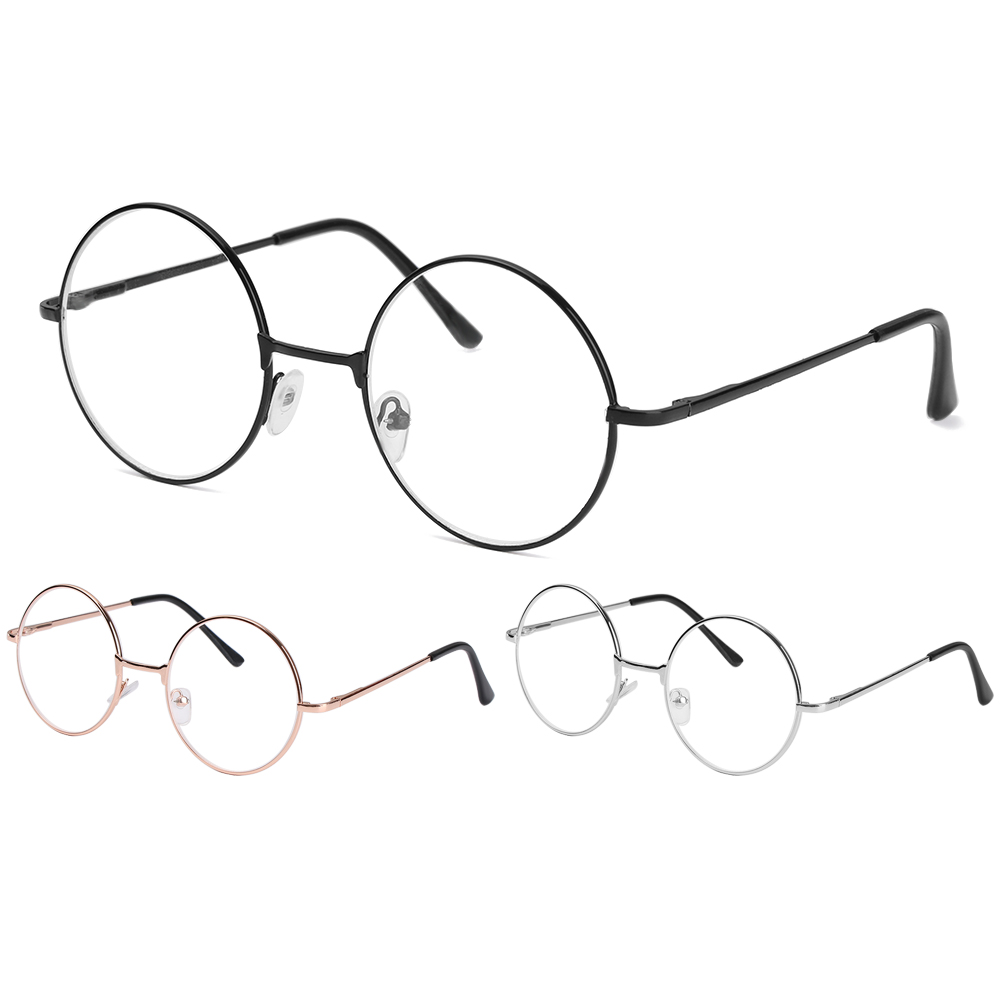 Metal Round Reading Glasses Clear Lens Women Men Myopia Glasses Vintage Nearsighted Eyeglasses -1 -1.5 -2 -2.5 -3 -3.5 -4