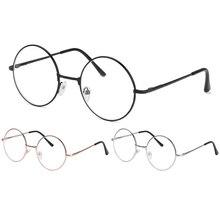 Metal Round Reading Glasses Clear Lens Women Men Myopia