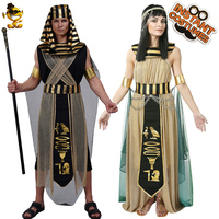 Men's Pharaoh Costume Cosplay Egypt Egyptian Outfits for Adult Halloween Costumes