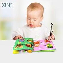 4 стиля детские мягкие тканевые книги звук шелеста для раннего