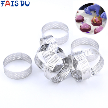 4/6 Pcs Mini Tart Ring Stainless Steel Tartlet Mold Small Circle Cutter Pie Heat-Resistant Perforated Cake Mousse Molds - discount item  40% OFF Kitchen,Dining & Bar