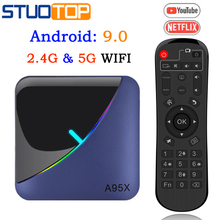 A95XF3 Smart TV Box RGB Light Android 9.0 Amlogic
