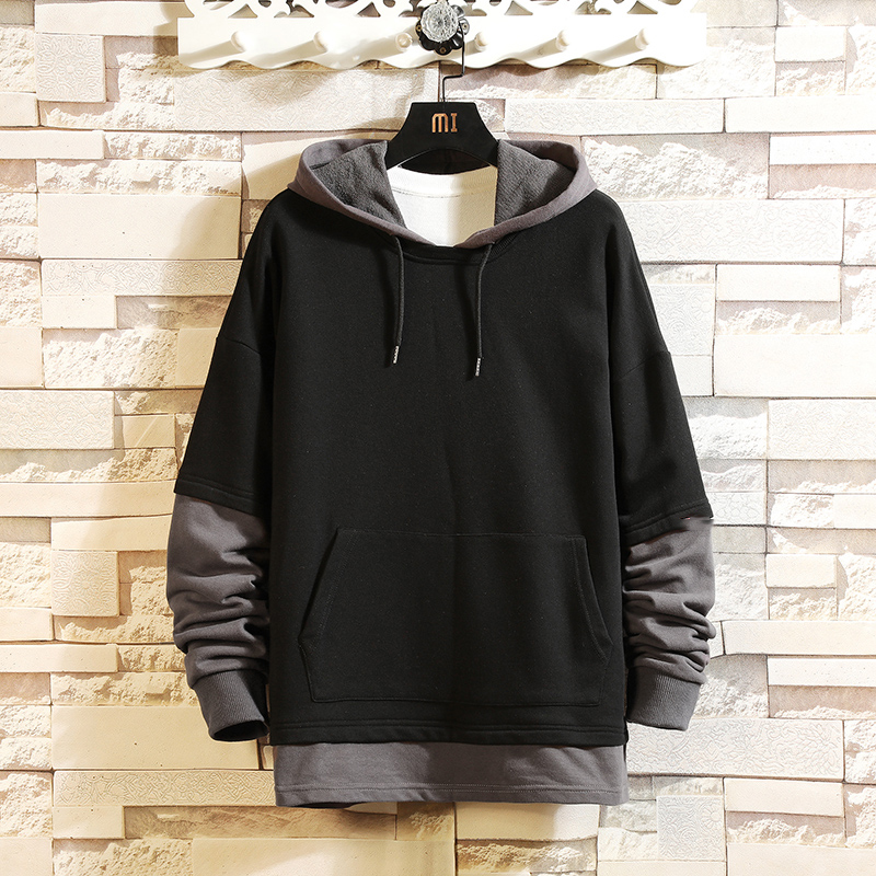 2019 Casual New Men Hip HOP Hoodies Sweatshirts Streetwear One Piece Brand Black Grey