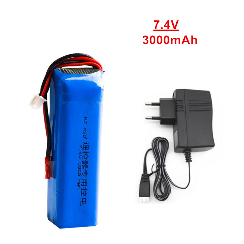 Upgrade <font><b>3000mAh</b></font> 7.4V Rechargeable <font><b>Lipo</b></font> Battery for Frsky Taranis X9D Plus Transmitter <font><b>2S</b></font> <font><b>Lipo</b></font> Battery Charger Toy Accessories image