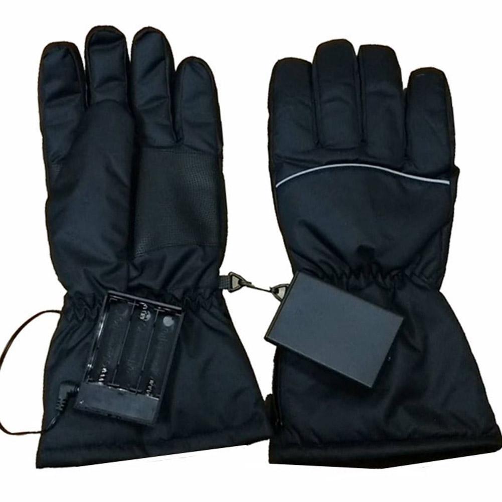 Thermal Skiing Heating Gloves Men Women Winter Ski Fleece Waterproof Snowboard Gloves Touch Screen Snow Motorcycle Warm Mittens