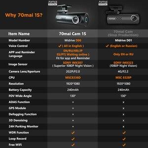 Image 3 - Original 70mai Dash Cam 1S Englisch Vision Nacht Vison Auto DVR 1080HD Auto Kamera voice control 130FOV G  sensor Dashboard