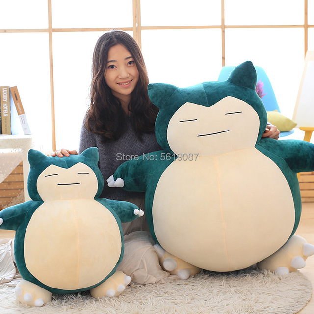 30/50cm Toy Snorlax Plush Anime New Rare Soft Stuffed Animal Doll Peluche Pillow For Christmas Gift