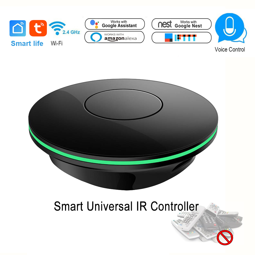 Wifi Smart Ir Control Air Condition TV Box Fan TV Universal Remote Controller App Smart Life Compatible For Google Alexa IFTTT