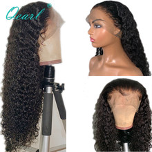 Curly Human Hair Wig Glueless Lace Front Human Hair Wig With Baby Hair Pre Plucked 13x4 Peruvian Remy Hair 130% Density Qearl(China)
