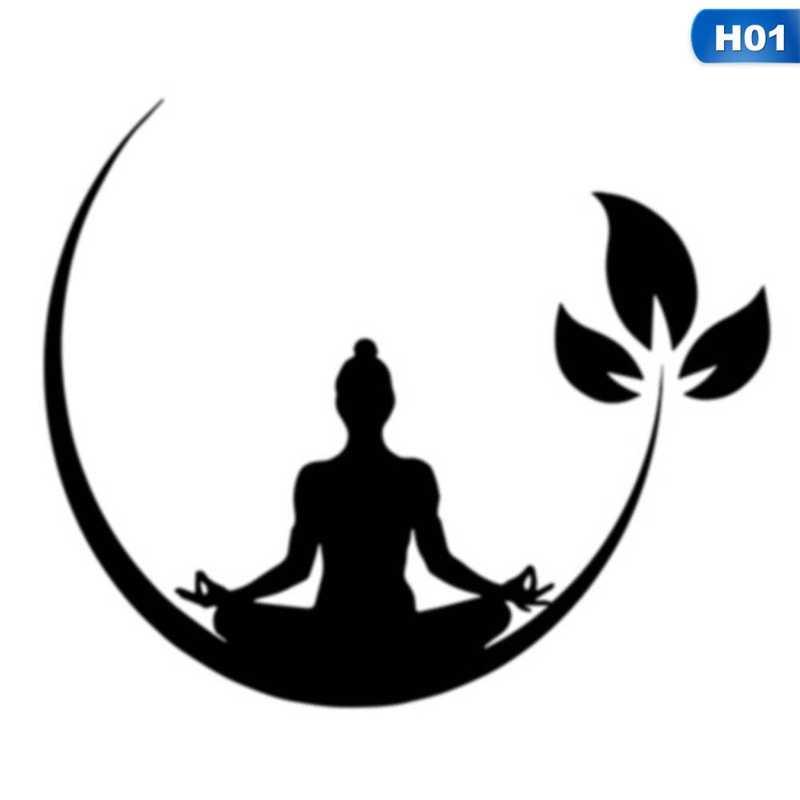 Yoga Meditation Wall Stickers Buddhist Zen Wall Decal For Bedroom Removable Wall Sticker Decor Yoga Wallpaper Aliexpress