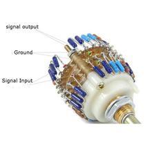 1 шт в собранном виде Дейл 23 Ступенчатый аттенюатор двух-канальный регулятор громкости 500 K/200 K/100 K/50 K/10 K-опционально