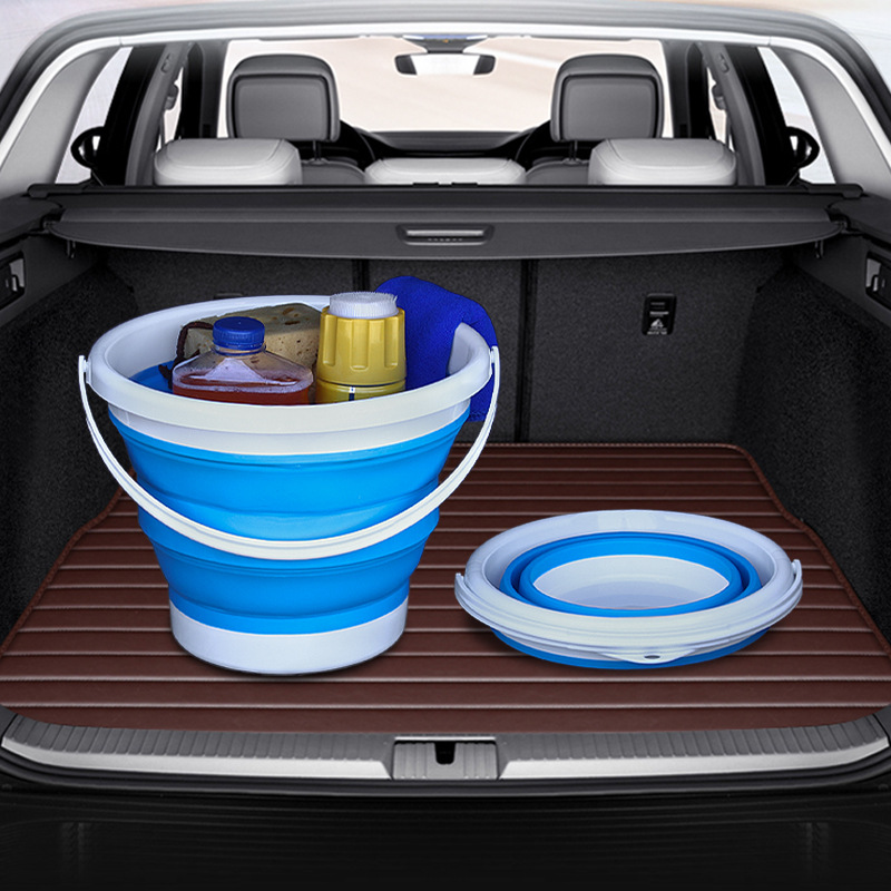 Car Folding Bucket Multifunctional Water Storage Bucket Telescopic Storage Box Car Wash Outdoor Fishing Bucket
