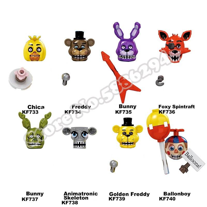 8 шт./компл. FNAF пять ночей у Фредди строительные блоки кошмар Фредди Бонни и Чика Funtime Foxy Фигурки игрушки|Блочные конструкторы|   | АлиЭкспресс