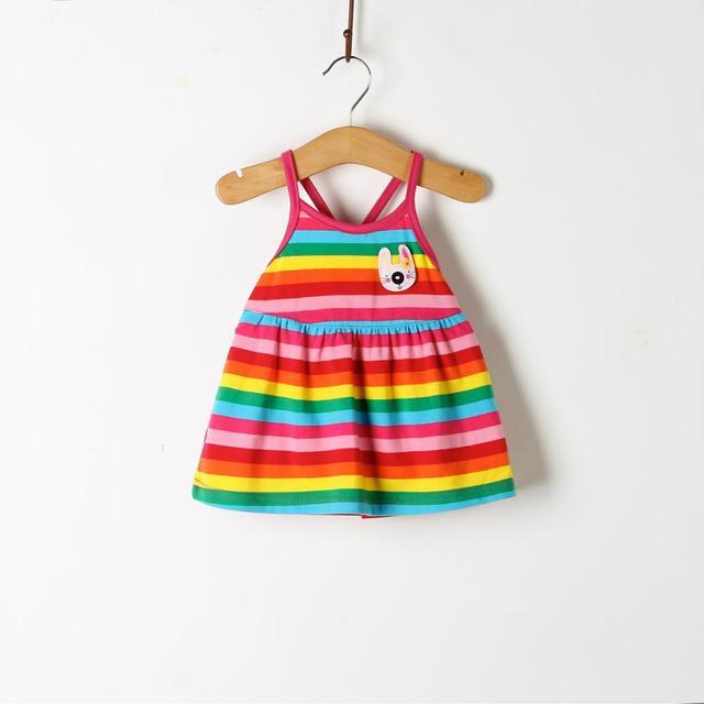 Vestido de niña 2019, nuevos vestidos de bebé, estampado de dibujos animados de limón, vestido de cumpleaños, ropa de verano para bebé, ropa para niños y niñas