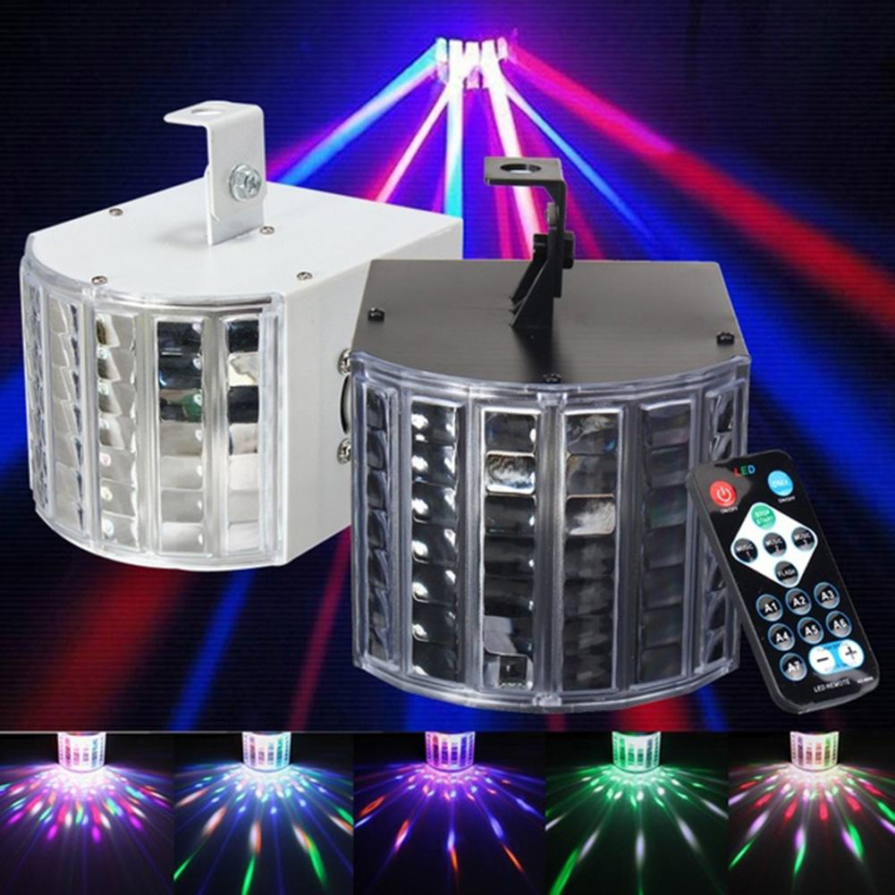 Sound Activated Remote Control Stage Effect Light KTV Party Crystal Magic Ball Led flame Stage Lamp Projetor Dj Focos de Natal