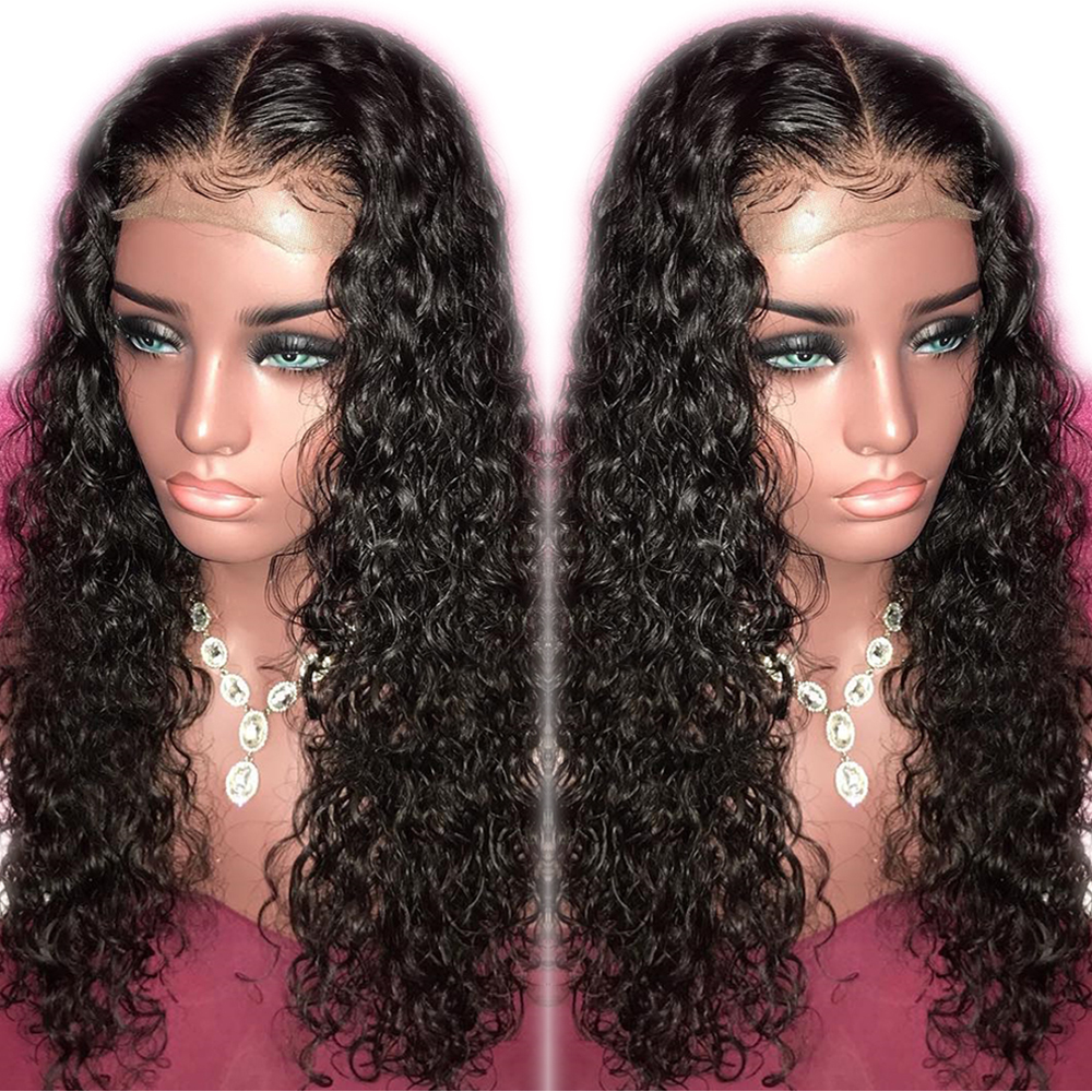 Eversilky Glueless Full Lace Human Hair Wigs Curly Wigs With Baby Hair Pre Plucked Peruvian Remy Water Wave Wig For Black Women