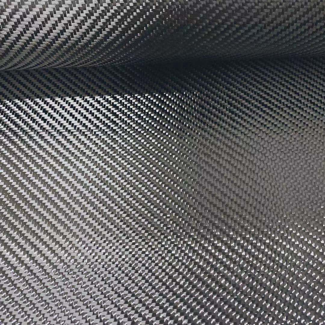 High Strength Carbon Fabric Cloth 3K 5.9oz / 200gsm Twill Weave Pattern 0.5m Width Repair Use Carbon Fabric