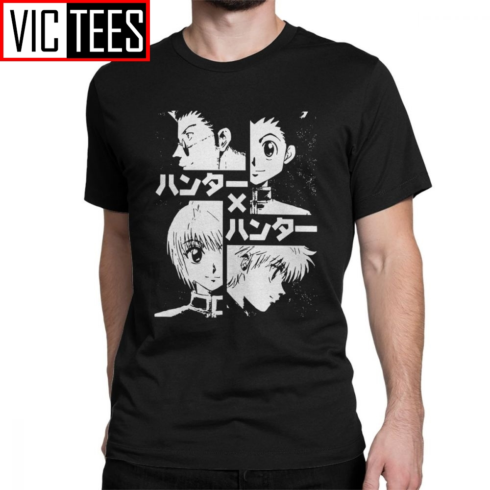 The Hunters Hunter X Hunter T Shirts Men's Cotton T-Shirt Killua Zoldyck Anime Manga Japan Hunters Hxh Tees Short Sleeve Gift