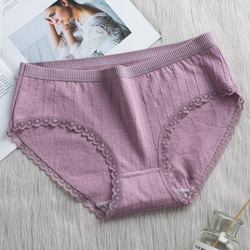Heed3d3a5343f4fb3b0ce21e3681d27657 Bragas de algodón a rayas bragas a media cintura ropa interior Sexy encaje de mujer Lencería ropa interior transpirable Antibacterial íntimos femeninos