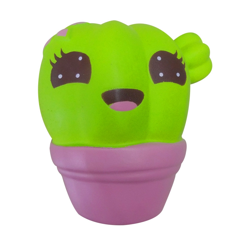 New Creative Cute Mini Cactus Squishy Slow Rising Squeeze Stress Relief Kids Christmas Toys Kids Children Baby Toys