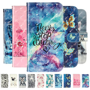3D Embossed Flip PU Leather Case For Huawei Honor 8A 2020 Luxury Painted Card Wallet Cover for Honor 8A Prime 8 A 8 S A8 Coques