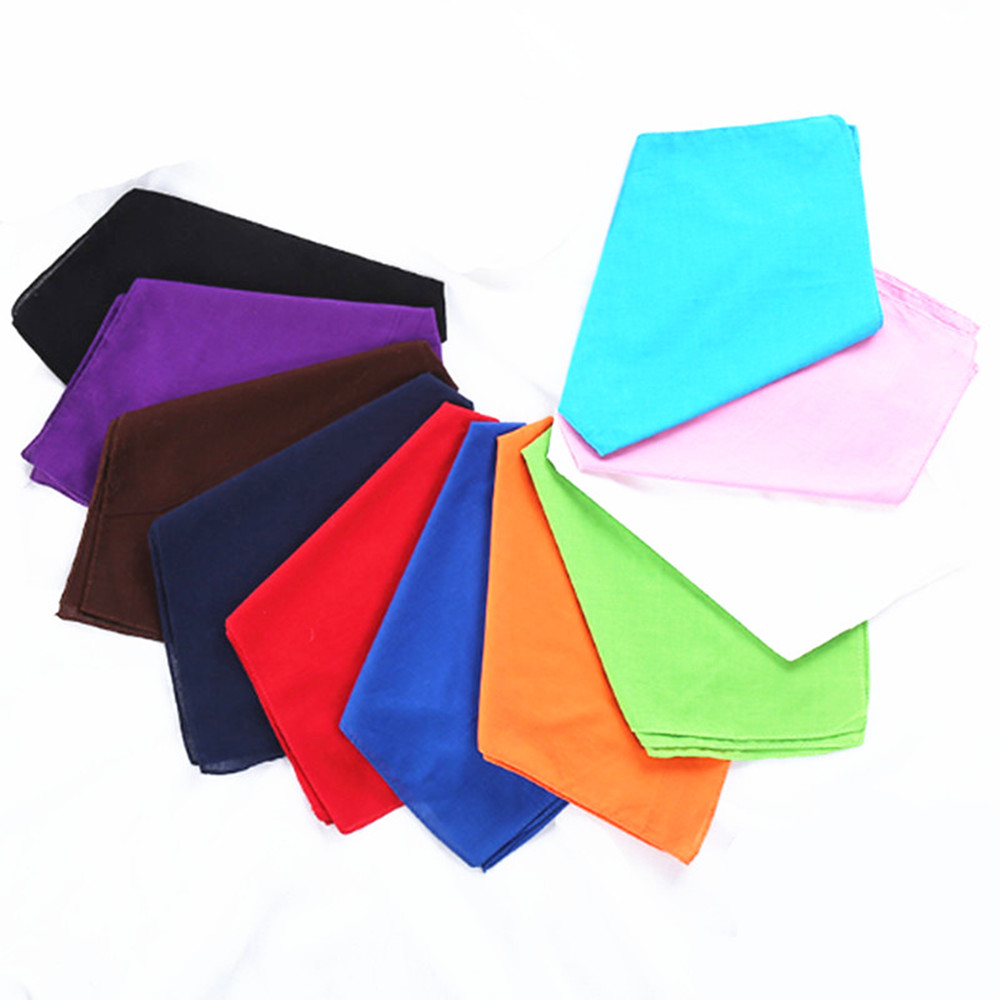 Wholesale Lot Bike Motorcycle 100% Cotton Solid color head wrap scarf A299